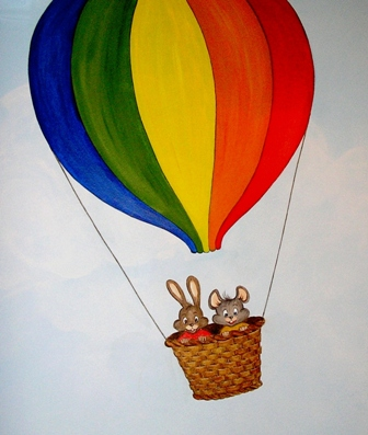Ζωγραφική τοίχου παιδικού δωματίου παιδικές τοιχογραφίες