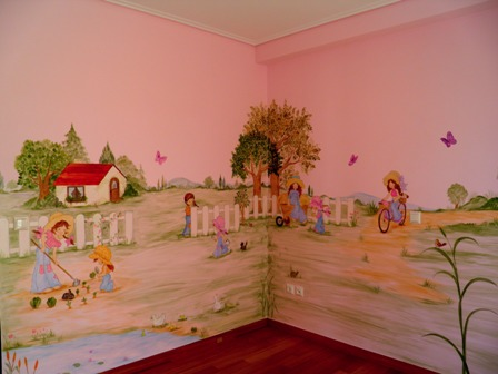Ζωγραφική σε τοίχο παιδικού δωματίου Σάρα Κέι παιδικέ τοιχογραφίες