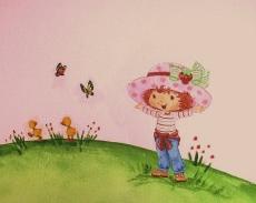 Ζωγραφικη σε τοιχο παιδικου δωματιου παιδικες τοιχογραφιες τεχνοτροπιες φραουλιτσα