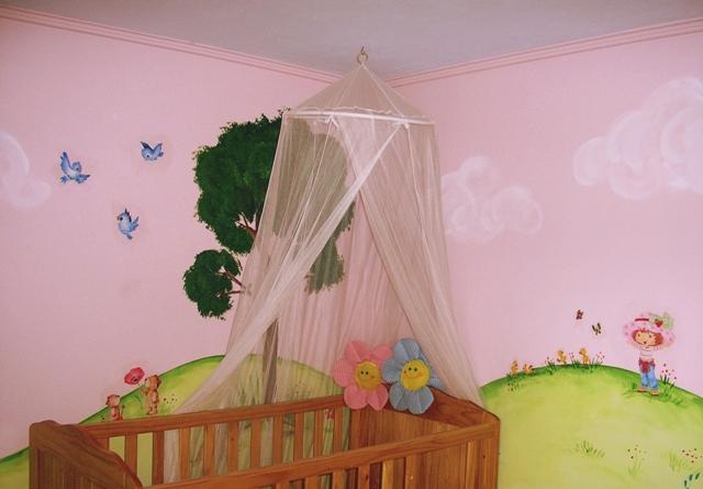 Ζωγραφικη παιδικου δωματιου φραουλιτσα παιδικες τοιχογραφιες