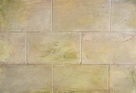 stone brick / ανάγλυφη τεχνοτροπία και πατίνα