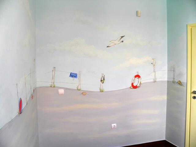 ζωγραφικη παιδικου δωματιου ακτη