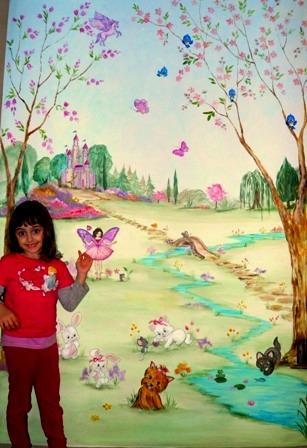 Ζωγραφικη σε τοιχο παιδικου δωματιου παιδικες τοιχογραφιες καστρο