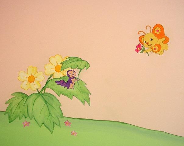 ζωγραφικη παιδικου δωματιου παιδικες τοιχογραφιες φραουλιτσα