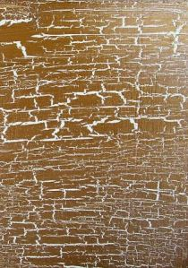 τεχνοτροπία σε τζάκι, τεχνοτροπία μεταλλικό  χρυσό  crackle