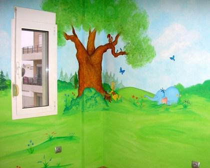 ζωγραφική παιδικού δωματίου ζωγραφικη τοιχου παιδικές τοιχογραφίες