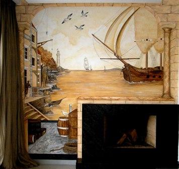 ζωγραφική σε τοίχο τοιχογραφιες