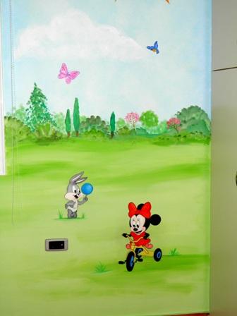ζωγραφική παιδικού δωματίου παιδικές τοιχογραφίες disney