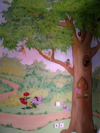 ζωγραφική παιδικών δωματίων παιδικές τοιχογραφιίες ζωγραφικη τοιχου νεράιδες