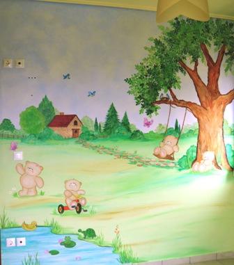 ζωγραφικη σε τοιχο παιδικων δωματιων παιδικες τοιχογραφιες