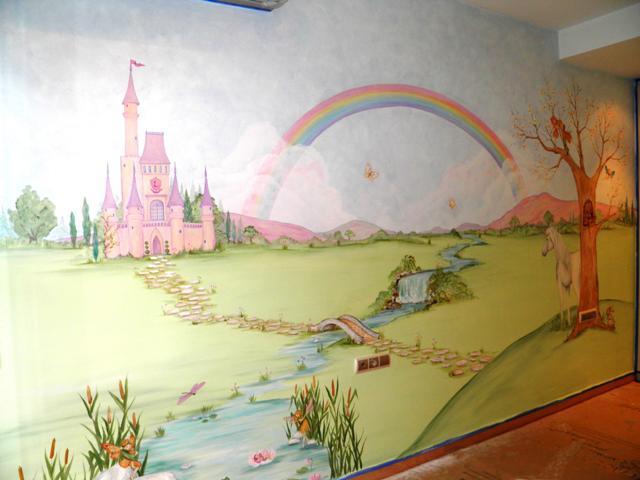 Νεραϊδένιο κάστρο παιδική τοιχογραφία