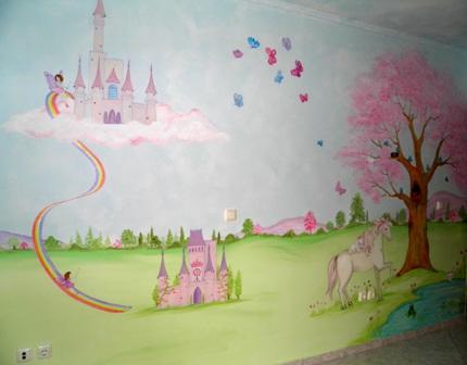 Μαγικο τοπιο ζωγραφικη παιδικου δωματιου