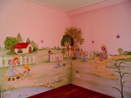 στην εξοχή, παιδική τοιχογραφία