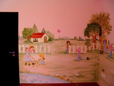 Ζωγραφική παιδικού δωματίου Σάρα Κέι παιδικη τοιχογραφια
