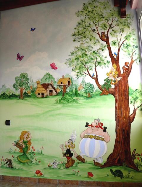 αστερίξ και οβελίξ τοιχογραφία