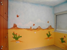 Ζωγραφικη σε εφηβικο δωματιο παιδικες τοιχογραφιες