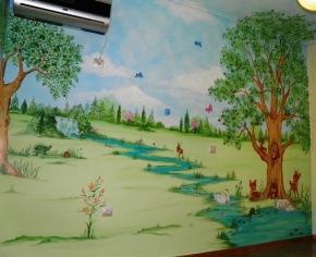 ζωγραφική σε τοίχο παιδικών δωματίων, παιδικές τοιχογραφίες