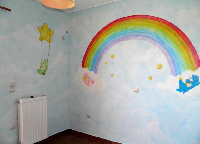 ζωγραφικη παιδικων δωματιων, παιδικες τοιχογραφιες