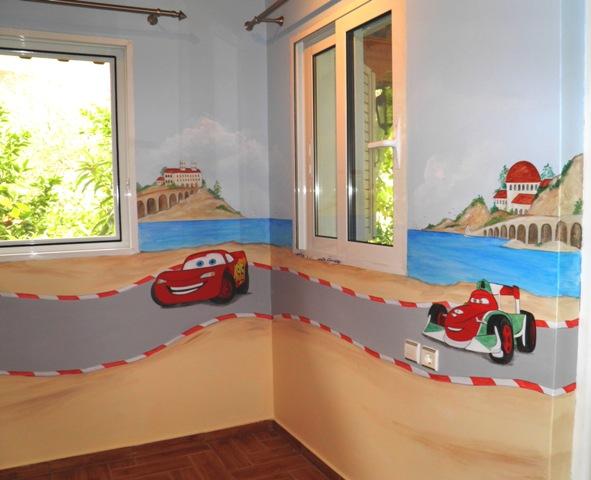McQueen παιδικη τοιχογραφία