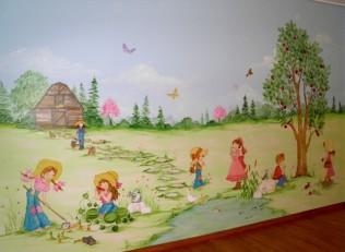 Ζωγραφικη παιδικου δωματιου παιδικες τοιχογραφιες