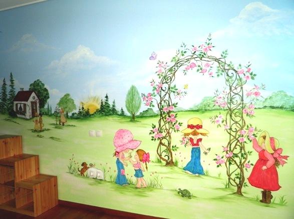 Ζωγραφικη τοιχου παιδικου δωματιου παιδικες τοιχογραφιες