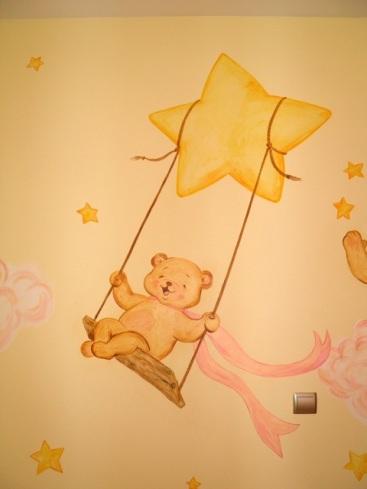 αρκουδάκια ζωγραφική παιδικού δωματίου