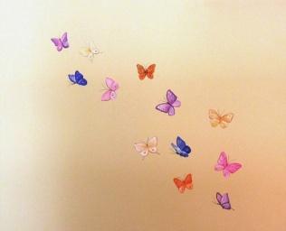 80 € σμήνη πεταλούδες σε όλο το δωμάτιο