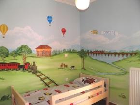 ζωγραφικη τοιχου παιδικου δωματιου, παιδική τοιχογραφια, ζωγραφική παιδικών δωματίων