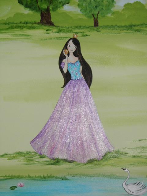 παιδικές τοιχογραφίες, ζωγραφική παιδικού δωματίου ιπποτες και πριγκιπισσες