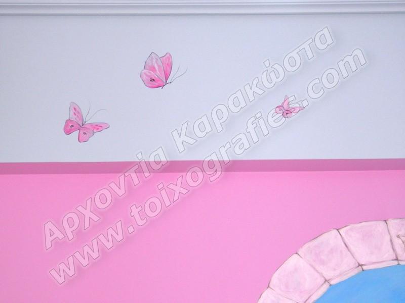 νεραιδα στο φεγγαρι παιδικές τοιχογραφίες, ζωγραφική παιδικού δωματίου