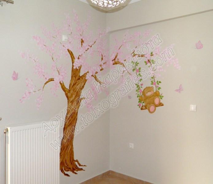 ζωγραφική τοίχου παιδικών βραφικών δωματίων παιδικές τοιχογραφίες