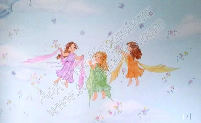 μυθολογια ζωγραφική παιδικών δωματίων, παιδικές τοιχογραφίες, ζωγραφική σε τοίχο, διακόσμηση παιδικού δωματίου