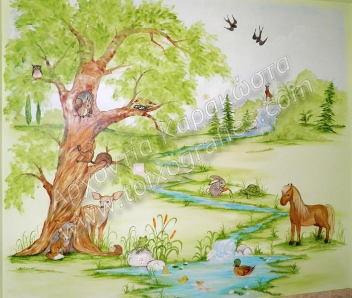 Ζζωγραφική παιδικών δωματίων, παιδικές τοιχογραφίες, ζωγραφική σε τοίχο, διακόσμηση παιδικού δωματίου