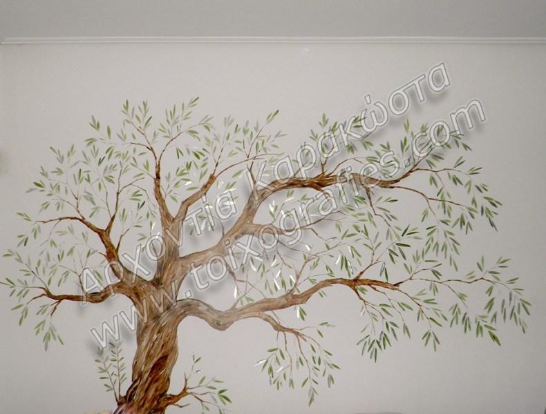 τοιχογραφία ελιά, ζωγραφική παιδικών δωματίων, παιδικές τοιχογραφίες, ζωγραφική σε τοίχο, διακόσμηση παιδικού δωματίου