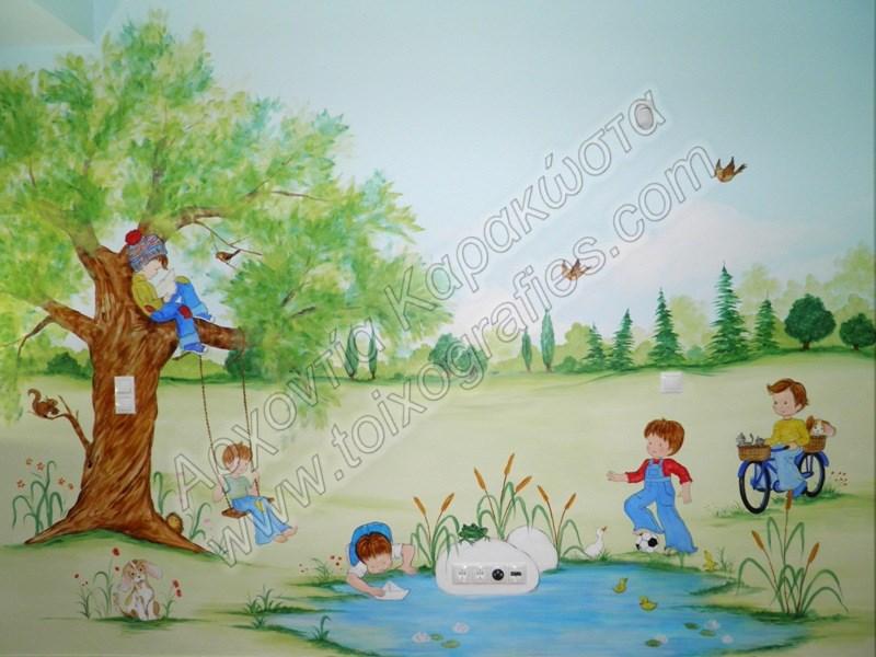 Zωγραφική παιδικών δωματίων, παιδικές τοιχογραφίες, ζωγραφική σε τοίχο, διακόσμηση παιδικού δωματίου