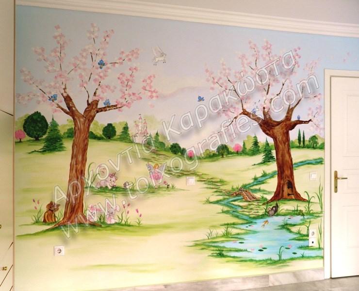 ζωγραφική τοίχου παιδικών βρεφικών δωματίων, παιδικές τοιχογραφίες, ζωγραφική σε τοίχο, διακόσμηση παιδικού βρεφικού δωματίου