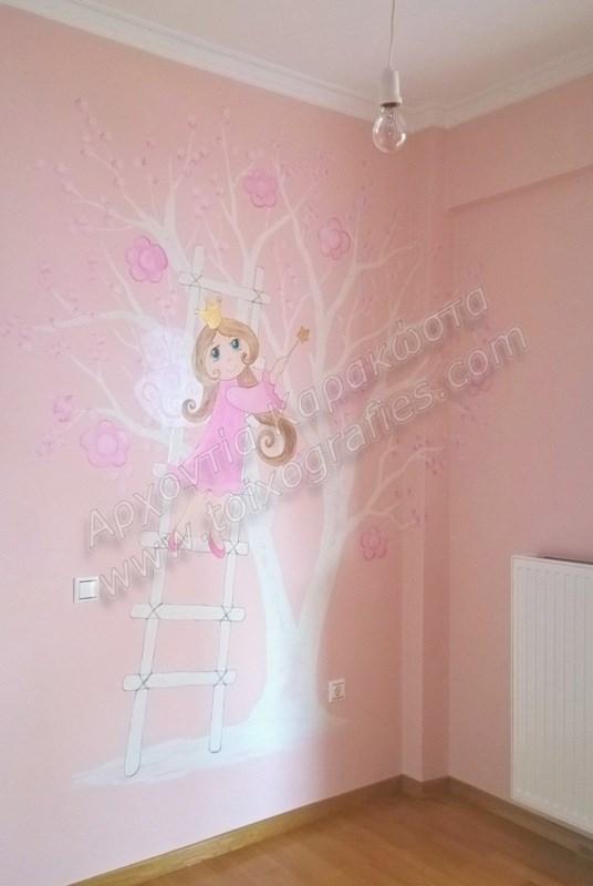 ζωγραφική παιδικών δωματίων, παιδικές τοιχογραφίες, ζωγραφική σε τοίχο, διακόσμηση παιδικού δωματίου, νεράιδες