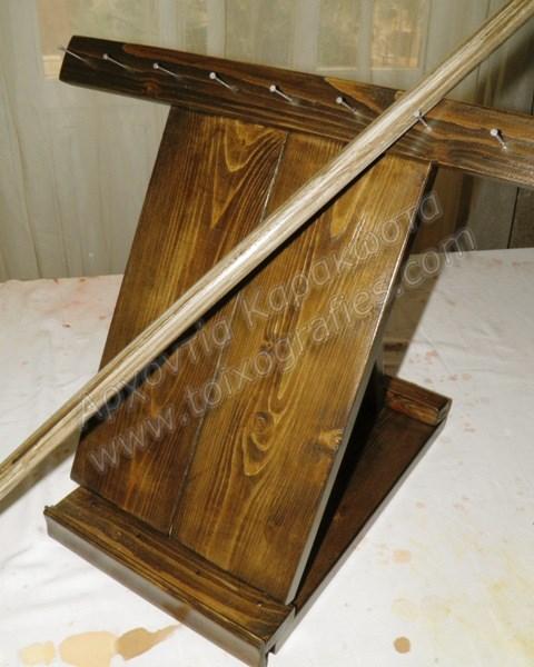 χειροποίητο αναδιπλούμενο επιτραπέζιο καβαλέτο αγιογραφίας