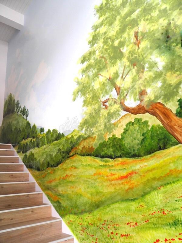ζωγραφική τοίχου, τοιχογραφία επαγγελματικού χώρου, παιδική τοιχογραφία, ζωγραφική παιδικών δωματίων, ζωγραφική τοπίο