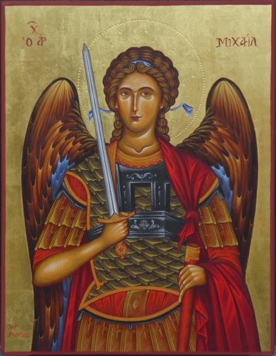 Αρχάγγελος Μιχαήλ, τέμπερα σε ξύλο και φύλλο χρυσού, 37x47