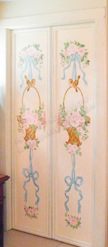 ζωγραφική σε έπιπλα, ζωγραφιστές πόρτες ντουλάπας, αναπαλαίωση επίπλων