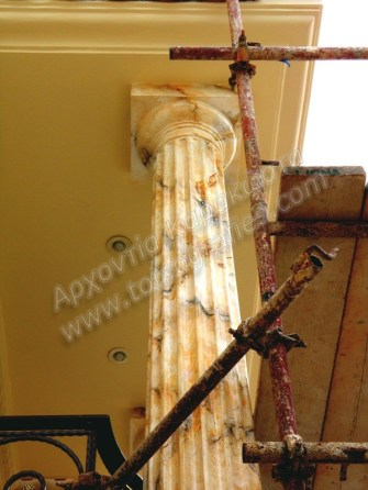 ζωγραφική απομίμηση μαρμάρου, ζωγραφιστό μάρμαρο, marbleizing, faux marble