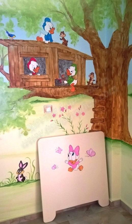 ζωγραφική παιδικού δωματίου, παιδική τοιχογραφία ντίσνεϋ