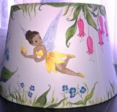 ζωγραφιστό χειροποίητο παιδικό φωτιστικό νεράιδες