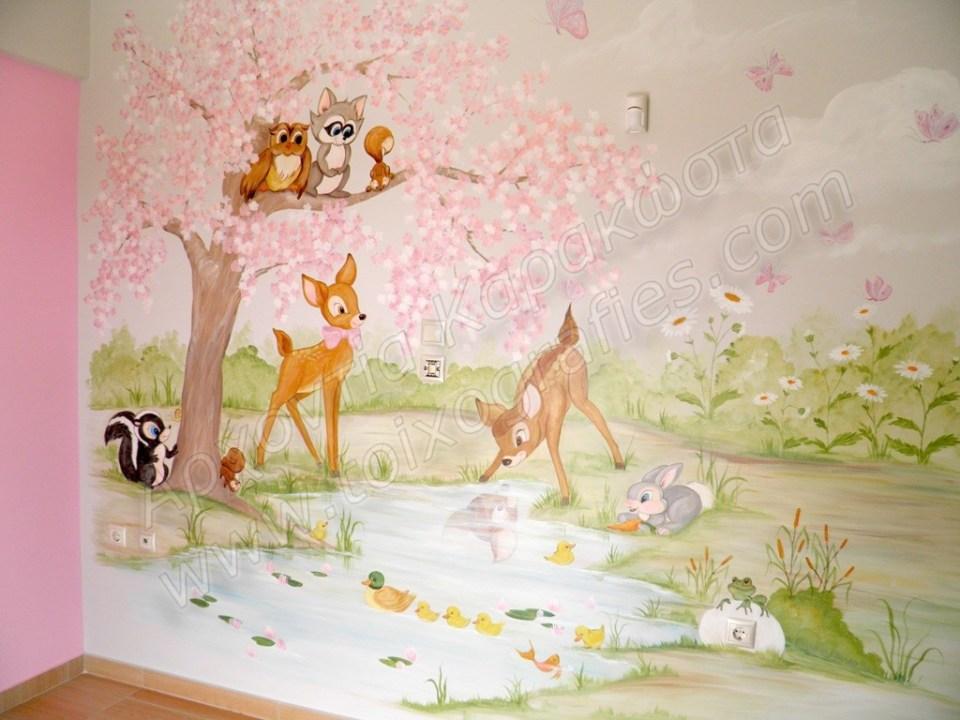 παιδικες τοιχογραφίες, ζωγραφική παιδικού δωματίου, παιδικές ταπετσαρίες