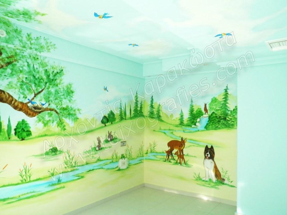 ζωγραφικη παιδικων δωματιων, παιδικές τοιχογραφίες, ζωγραφική σε τοίχο, διακόσμηση παιδικού δωματίου, παιδικές ταπετσαρίες τοίχου