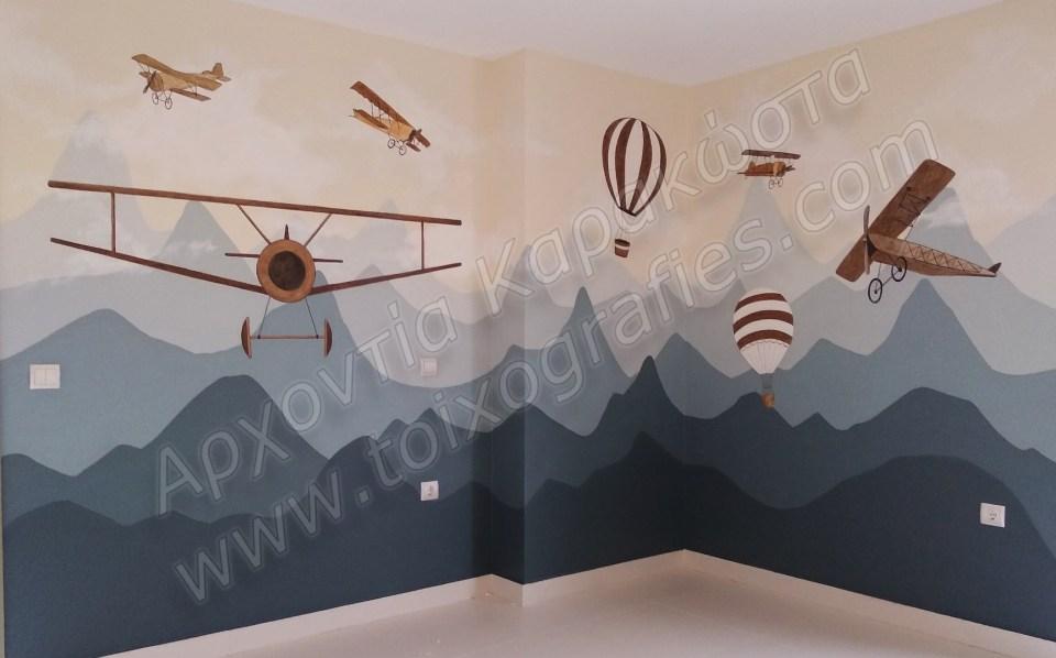 ζωγραφική παιδικών δωματίων, τοιχογραφίες, τεχνοτροπίες