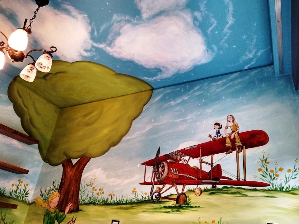 μικρός πρίγκιπας ζωγραφική παιδικών δωματίων, τοιχογραφίες, τεχνοτροπίες, ταπετσαρίες τοίχου