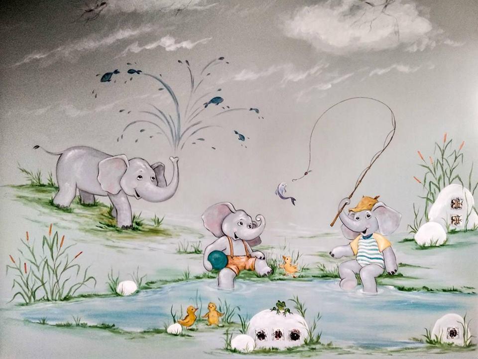 ζωγραφική παιδικών δωματίων, τοιχογραφίες,