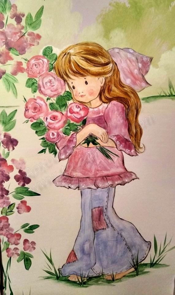 Ζωγραφική παιδικού δωματίου Σάρα Κέη